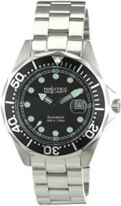 5. Nautec No Limit Herren-Armbanduhr Deep Sea Bravo Analog Automatik DSB AT/STSTBKBK